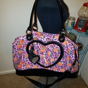 👜Betsey Johnson Tote Strawberry Cheetah Sequined